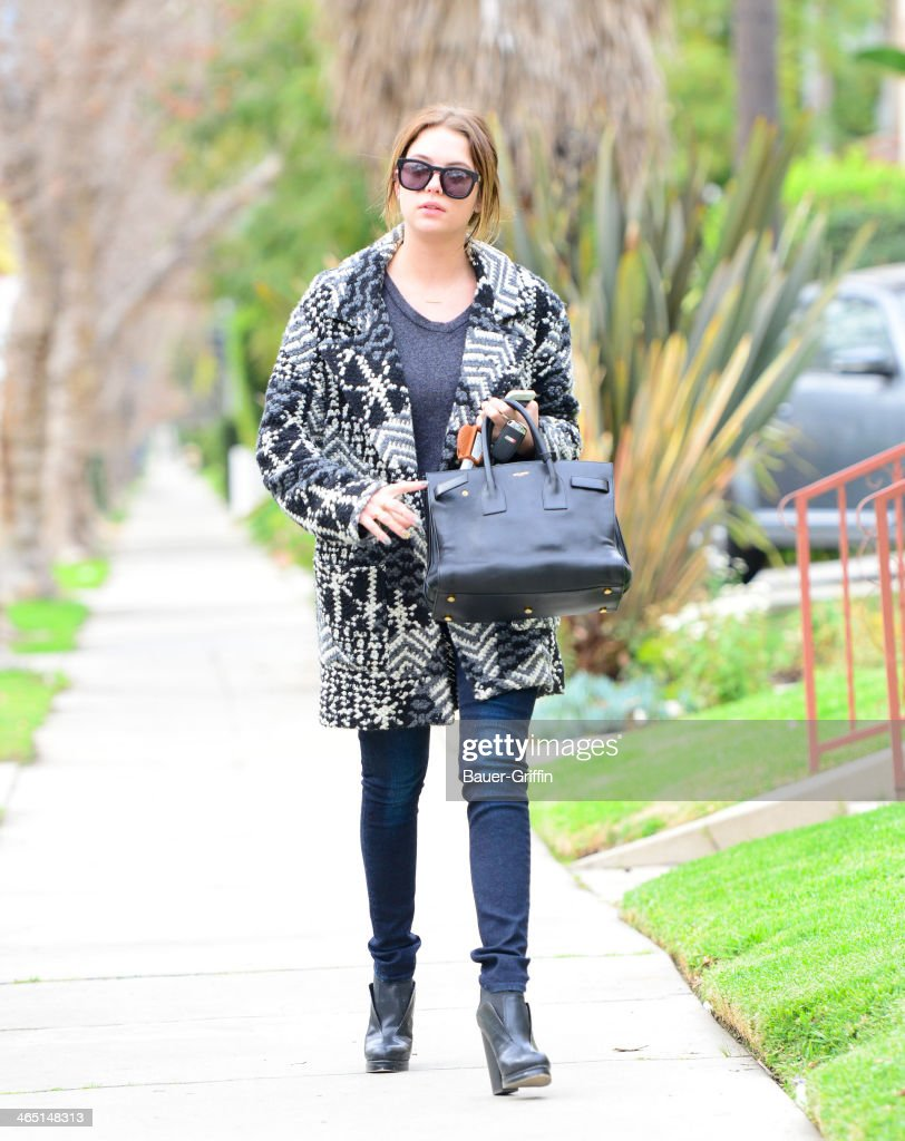 Ashley Benson is seen on January 25, 2014 in Los Angeles, California.