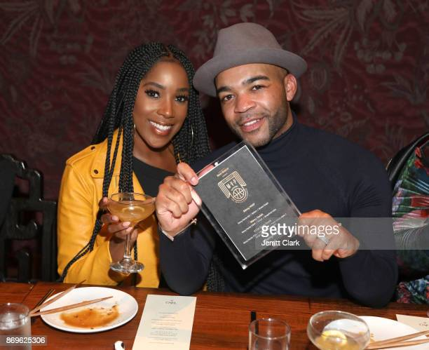 Ashley Blaine Featherson and Jonathan Kirkland attend The MVP Experience Launch Dinner hosted by The House of Remy Martin at Tao on November 2 2017...