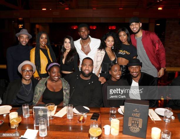 Ashley Blaine Featherson Broderick Hunter Sarunas Jackson Jonathan Kirkland and guests attend The MVP Experience Launch Dinner hosted by The House of...