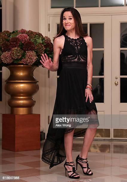 Ashley Blazer Biden daughter of Vice President Joseph Biden arrives at the White House for a state dinner October 18 2016 in Washington DC US...