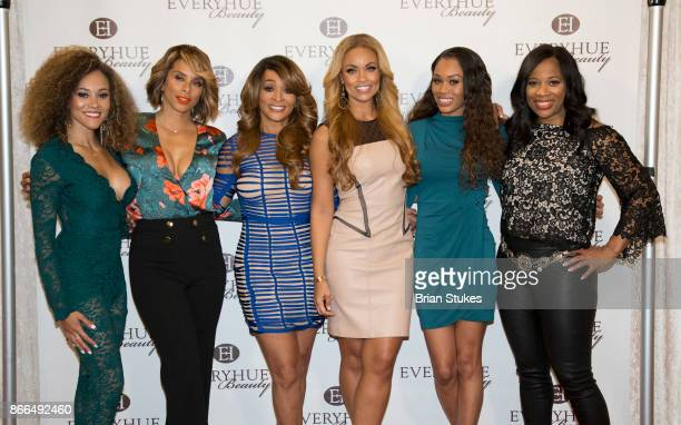 Ashley Boalch Darby Robyn Dixon Karen Huger Gizelle Bryant Monique Samuels and Charrisse JacksonJordan attend Every Hue Beauty PopUp at The Showroom...