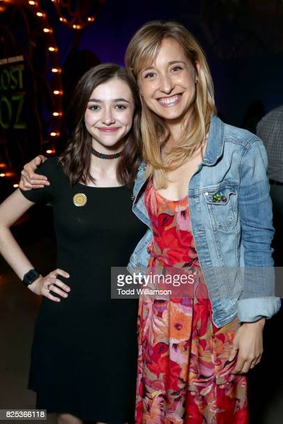 Ashley Boettcher and Allison Mack attend Amazon Studios' premiere for 'Lost In Oz' at NeueHouse Los Angeles on August 1 2017 in Hollywood California