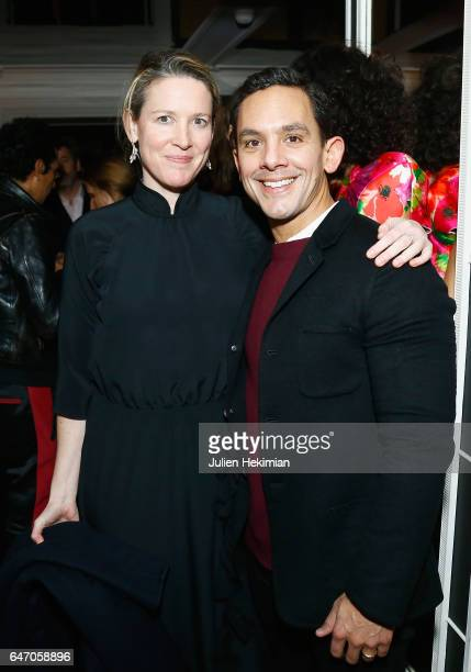 Ashley Brokaw and Christopher Turnier attend the Mastermind Magazine launch dinner as part of Paris Fashion Week Womenswear Fall/Winter 2017/2018 at...
