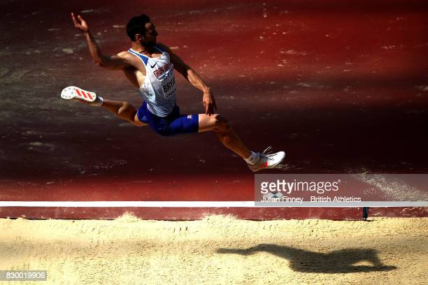 Ashley Bryant of Great Britain competes in the Men's Decathlon Long Jump during day eight of the 16th IAAF World Athletics Championships London 2017...