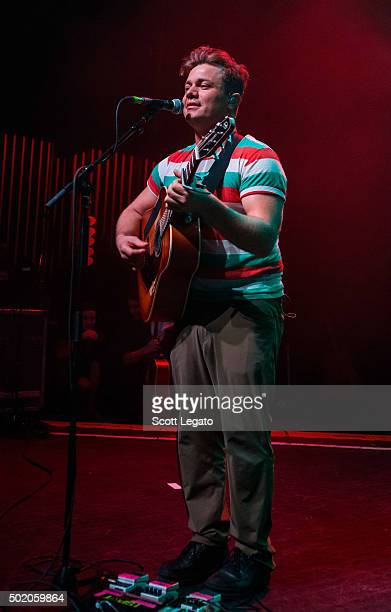 Ashley Buchholz of the canadian band USS performs at The Fillmore Detroit on December 19 2015 in Detroit Michigan