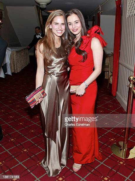 Ashley Bush and Lilli Buffett attend the 57th annual Viennese Opera ball gala at The Waldorf=Astoria on February 3 2012 in New York City