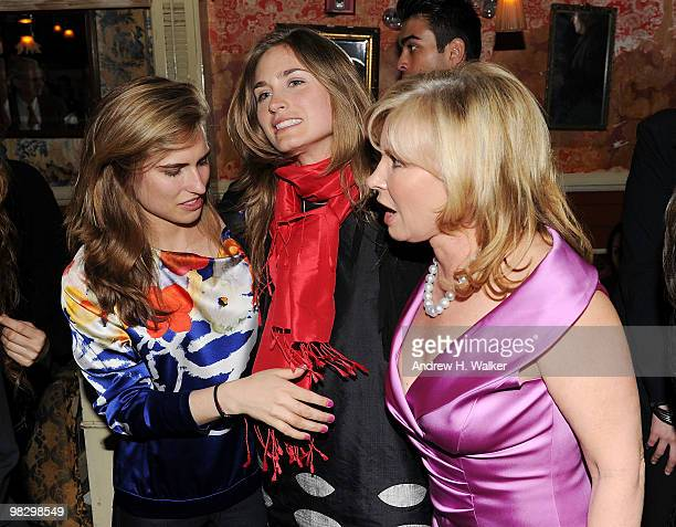 Ashley Bush Lauren Bush and Sharon Bush attend the Somaly Mam Foundation's Voices of Change AntiHuman Trafficking event at The Box on April 6 2010 in...