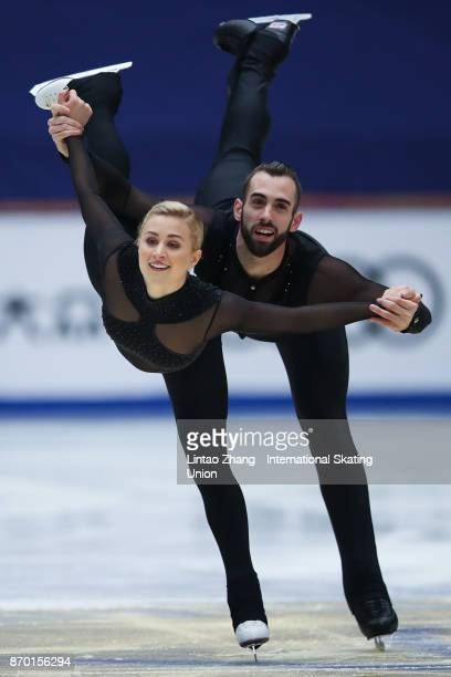 Ashley Cain and Timothy Leduc of United States competes in the Pairs Free Skating on day two of Audi Cup of China ISU Grand Prix of Figure Skating...