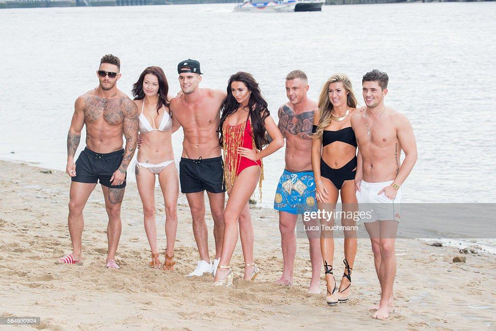Ashley Cain Jess Impiazzi Gary Beadle Charlotte Dawson David Hawley Lillie Lexie Gregg and Jordan Davies attends the cast of 'Ex on The Beach'...