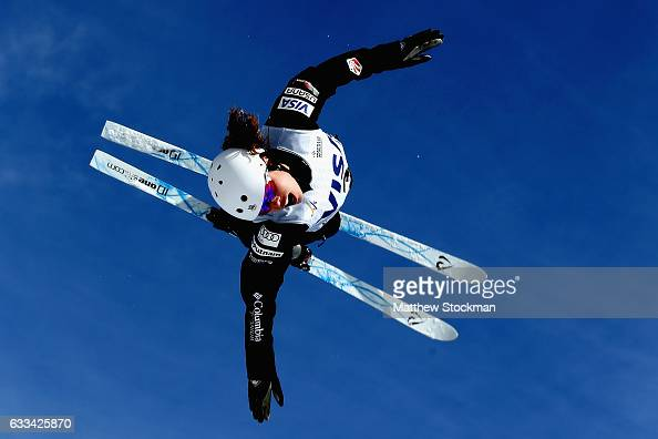 Ashley Caldwell trains for the ladies aerials competition during the FIS Freestyle World Cup at Deer Valley Resort on February 1 2017 in Park City...