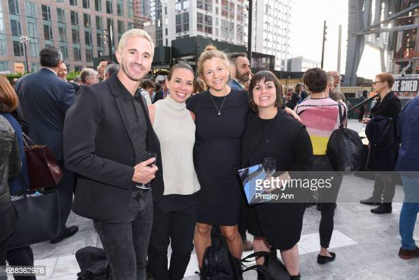 Ashley Chandler Lauren Soltau Caroline Amorim attend The Shed First Reveal VIP Cocktail Party at The Shed on May 24 2017 in New York City