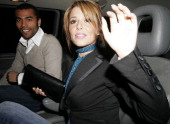 Ashley Cole and Cheryl Tweedy during London Fashion Week Autumn/Winter 2006 Julien MacDonald Departures at Freemasons Hall in London Great Britain