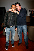 Ashley Cole and Sylvester Stallone during 'Rocky Balboa' London Premiere Inside Arrivals at Vue in London Great Britain