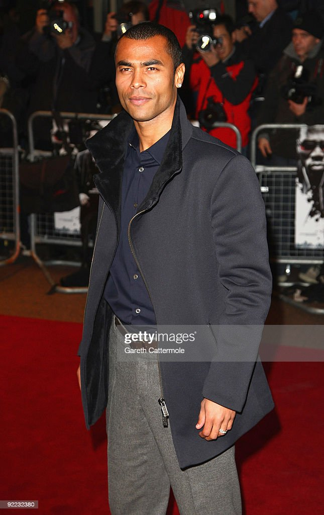 Ashley Cole arrives at the 'Dead Man Running' UK Film Premiere at Odeon West End on October 22 2009 in London England