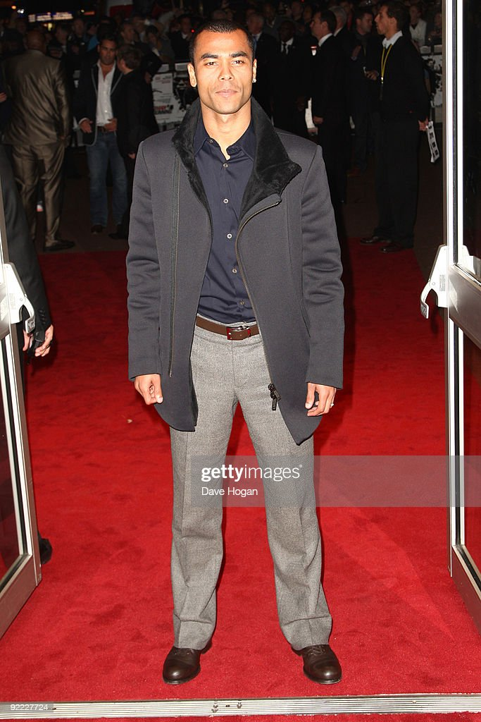 Ashley Cole attends the premiere of Dead Man Running during the The Times BFI London Film Festival held at The Odeon West End on October 22 2009 in...