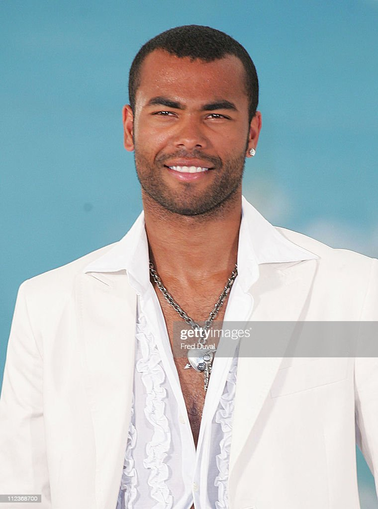 Ashley Cole during Cheryl Tweedy and Ashley Cole - Lottery Photocall at Jasmine Studios in London, Great Britain.