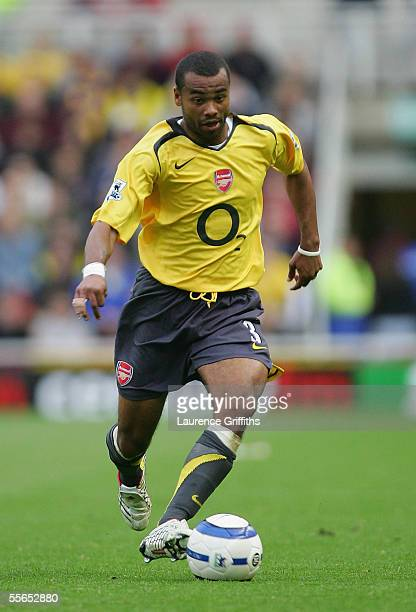 Ashley Cole of Arsenal during the Barclays Premiership match between Middlesbrough and Arsenal on September 10 2005 in Middlesbrough England