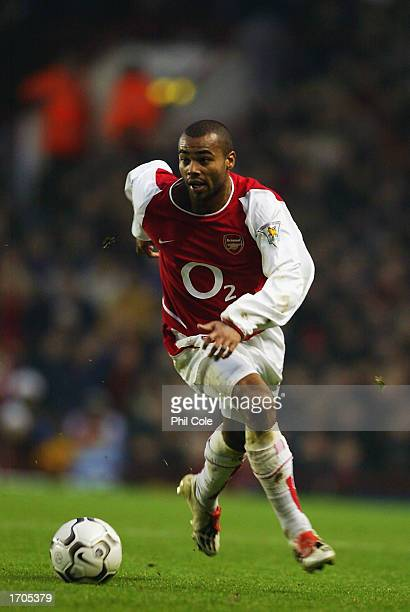 Ashley Cole of Arsenal in action during the FA Barclaycard Premiership match between Arsenal and Middlesbrough held on December 21 2002 at Highbury...