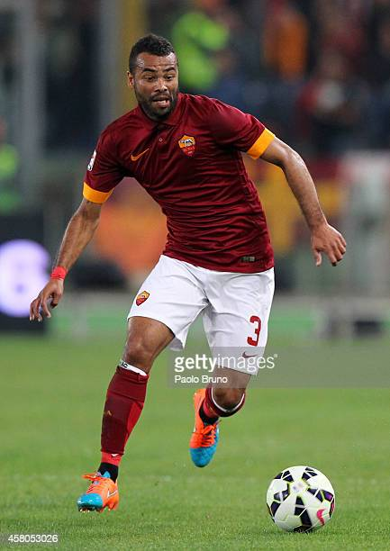 Ashley Cole of AS Roma in action during the Serie A match between AS Roma and AC Cesena at Stadio Olimpico on October 29 2014 in Rome Italy