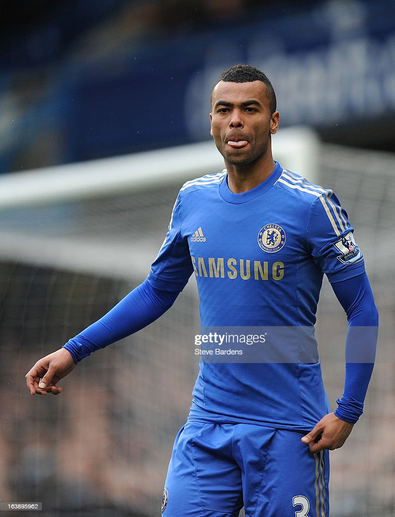 Ashley Cole of Chelsea during the Barclays Premier League match between Chelsea and West Ham United at Stamford Bridge on March 17, 2013 in London, England.