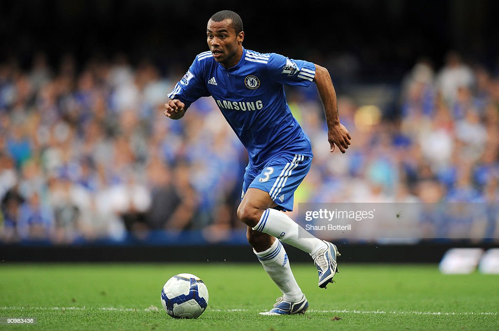 Ashley Cole of Chelsea in action during the Barclays Premier League match between Chelsea and Tottenham Hotspur at Stamford Bridge on September 20...