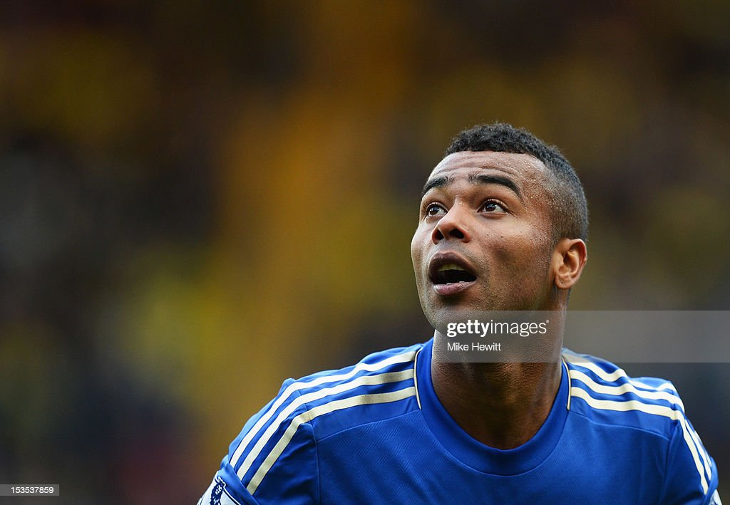 <a gi-track='captionPersonalityLinkClicked' href=/galleries/search?phrase=Ashley+Cole&family=editorial&specificpeople=201831 ng-click='$event.stopPropagation()'>Ashley Cole</a> of Chelsea looks on during the Barclays Premier League match between Chelsea and Norwich City at Stamford Bridge on October 6, 2012 in London, England.