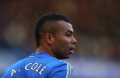 Ashley Cole of Chelsea looks on during the Barclays Premier League match between Chelsea and West Bromwich Albion at Stamford Bridge on March 2 2013...
