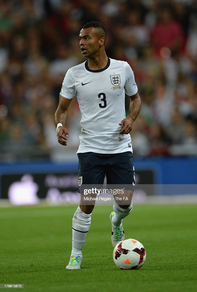 Ashley Cole of England in action during the FIFA 2014 World Cup Qualifying Group H match between England and Moldova at Wembley Stadium on September 6, 2013 in London, England.