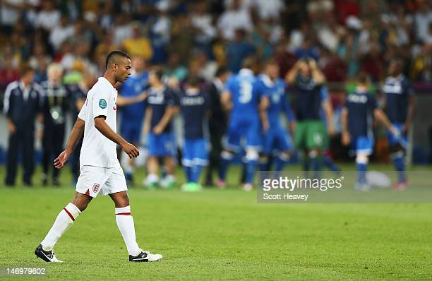 Ashley Cole of England looks dejected after failing to score a penalty during the penalty shoot out during the UEFA EURO 2012 quarter final match...