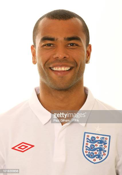 Ashley Cole of England poses during the official FIFA World Cup 2010 portrait session on June 4 2010 in Rustenburg South Africa