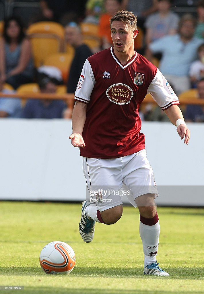 Ashley Corker of Northampton Town in action during the npower League Two match between Barnet and Northampton Town at Underhill Stadium on October 1, 2011 in Barnet, England.