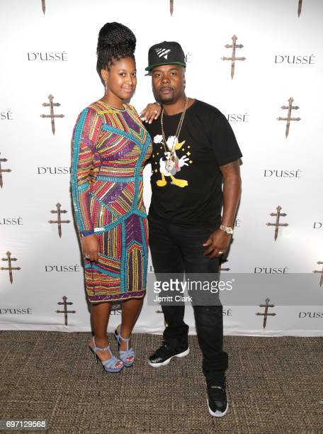 Ashley Cox and Memphis Bleek attend The D'USSE Lounge At WardKovalev 2 'The Rematch' on June 17 2017 in Las Vegas Nevada