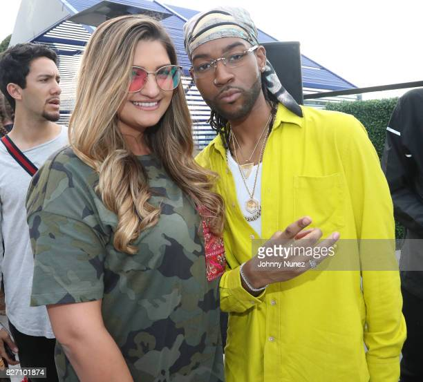 Ashley Davidovitch and PARTYNEXTDOOR attend the French Montana 'Unforgettable Party' In Toronto For Caribana 2017 on August 6 2017 in Toronto Canada