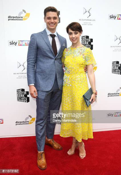 Ashley Day and Leanne Cope attending The Southbank Sky Arts Awards 2017 at The Savoy Hotel on July 9 2017 in London England