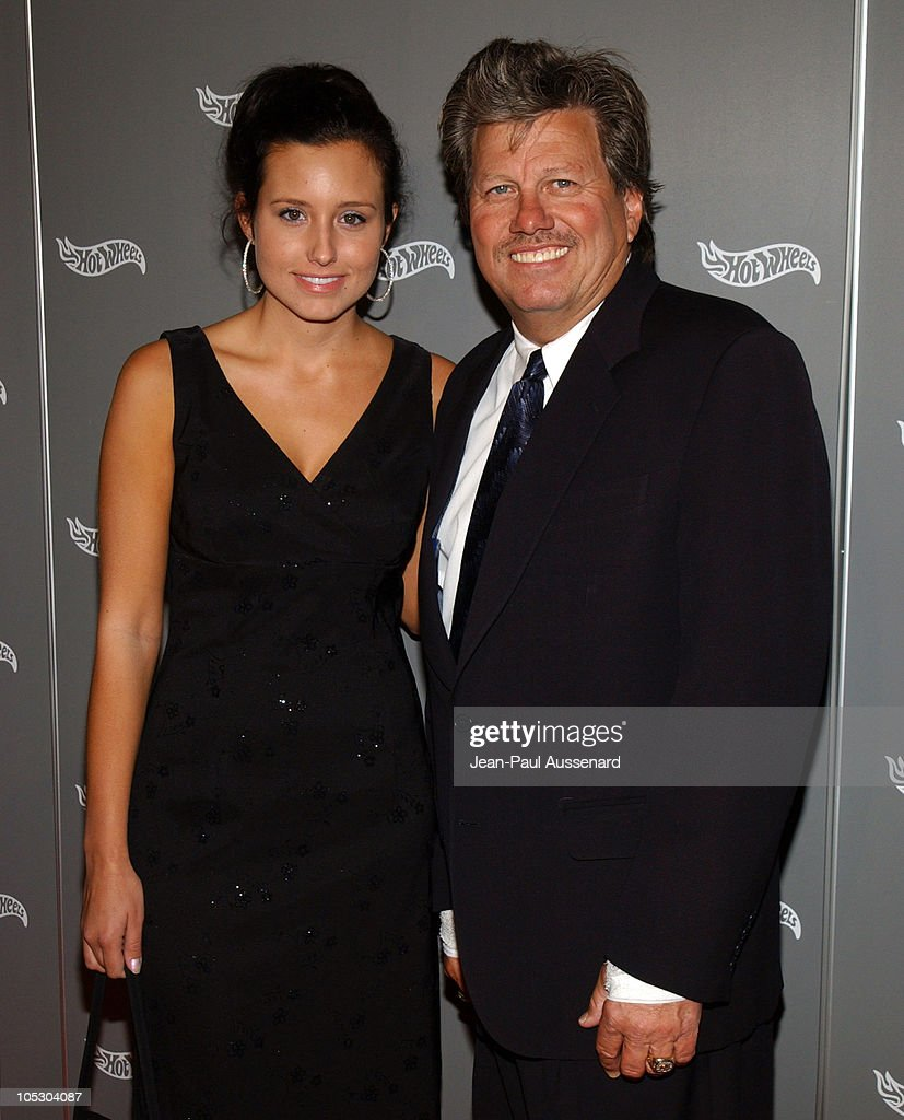 Ashley Force and <a gi-track='captionPersonalityLinkClicked' href=/galleries/search?phrase=John+Force&family=editorial&specificpeople=3908651 ng-click='$event.stopPropagation()'>John Force</a> during Hot Wheels Hall of Fame Induction Gala and Charity Benefit - Orange Carpet at Petersen Automotive Museum in Los Angeles, California, United States.