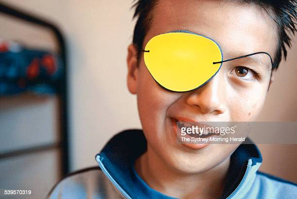 Ashley Formosa aged 9 taking part in a Vision Therapy programme which is an early intervention programme 10 March 2005 SMH Picture by STEVEN SIEWERT