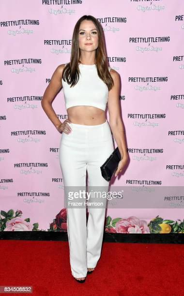 Ashley Gibson attends PrettyLittleThing X Olivia Culpo Launch at Liaison Lounge on August 17 2017 in Los Angeles California