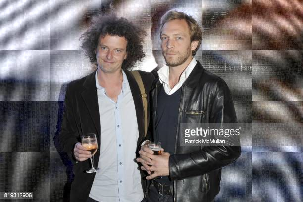 Ashley Gilbertson and Timothy Grucza attend Tribeca Film Festival THE WESTERN FRONT Private Screening at Intrepid Museum on April 23 2010 in New York...