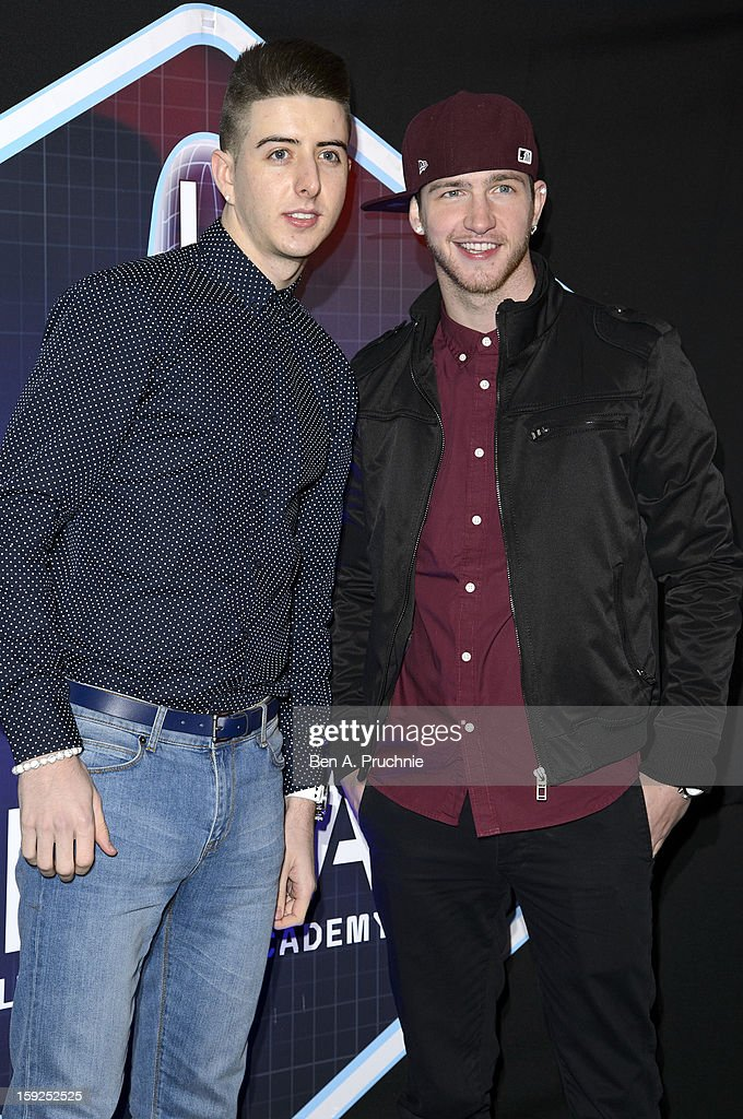 Ashley Glazebrook and Glen Murphy of Twist and Pulse attend the Lynx L.S.A launch event at Wimbledon Studios on January 10, 2013 in London, England.