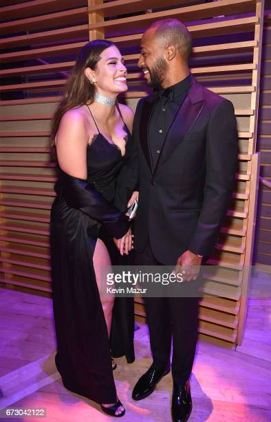 Ashley Graham and Justin Ervin attend 2017 Time 100 Gala at Jazz at Lincoln Center on April 25 2017 in New York City