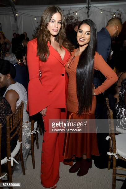 Ashley Graham and Lilly Singh attend Glamour's 2017 Women of The Year Awards at Kings Theatre on November 13 2017 in Brooklyn New York