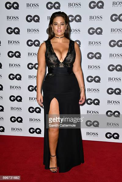 Ashley Graham arrives for GQ Men Of The Year Awards 2016 at Tate Modern on September 6 2016 in London England