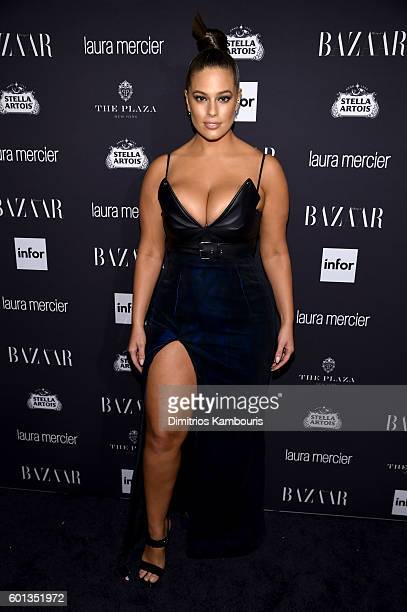 Ashley Graham attends Harper's Bazaar's celebration of 'ICONS By Carine Roitfeld' presented by Infor Laura Mercier and Stella Artois at The Plaza...