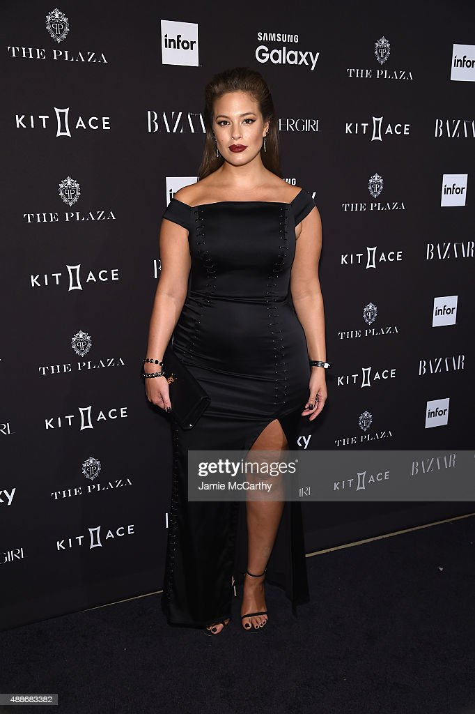 Ashley Graham attends the 2015 Harper's BAZAAR ICONS Event at The Plaza Hotel on September 16, 2015 in New York City.