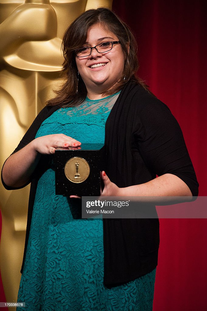 Ashley Graham attends The Academy Of Motion Picture Arts And Sciences' 40th Annual Student Academy Awards Ceremony at AMPAS Samuel Goldwyn Theater on...