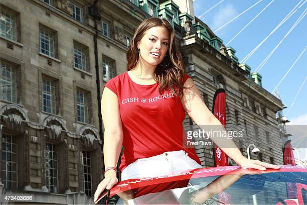 Ashley Graham attends the Cash Rocket photocall at the London Eye Pier on May 15 2015 in London England