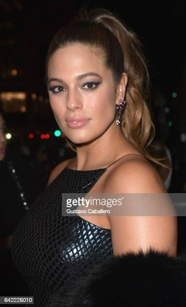 Ashley Graham attends the Sports Illustrated Swimsuit 2017 Launch Event Outside Arrivals at Center415 Event Space on February 16 2017 in New York City