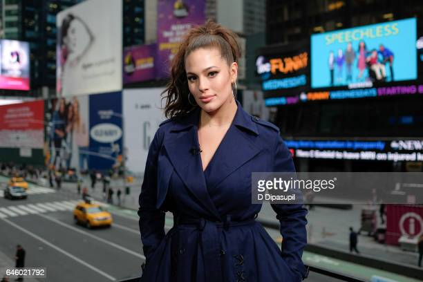 Ashley Graham visits 'Extra' at their New York studios at the Hard Rock Cafe in Times Square on February 27 2017 in New York City