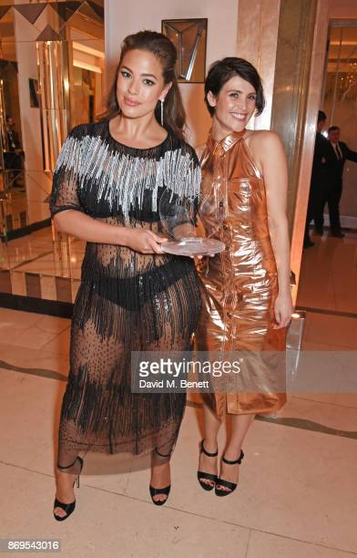 Ashley Graham winner of the Model of the Year award and Gemma Arterton attend Harper's Bazaar Women of the Year Awards in association with Ralph...