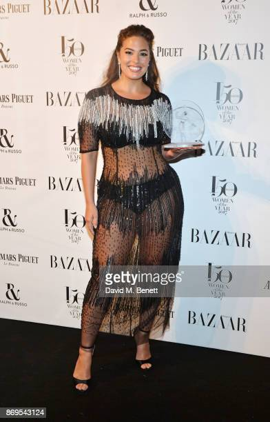 Ashley Graham winner of the Model of the Year award attends Harper's Bazaar Women of the Year Awards in association with Ralph Russo Audemars Piguet...